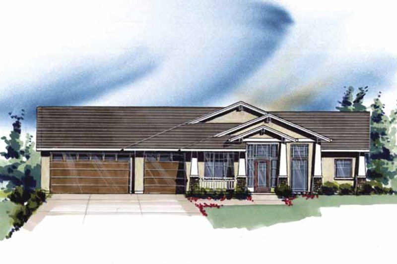 Prairie Exterior - Front Elevation Plan #509-362 - Houseplans.com