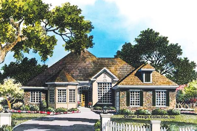 Ranch Exterior - Front Elevation Plan #930-91