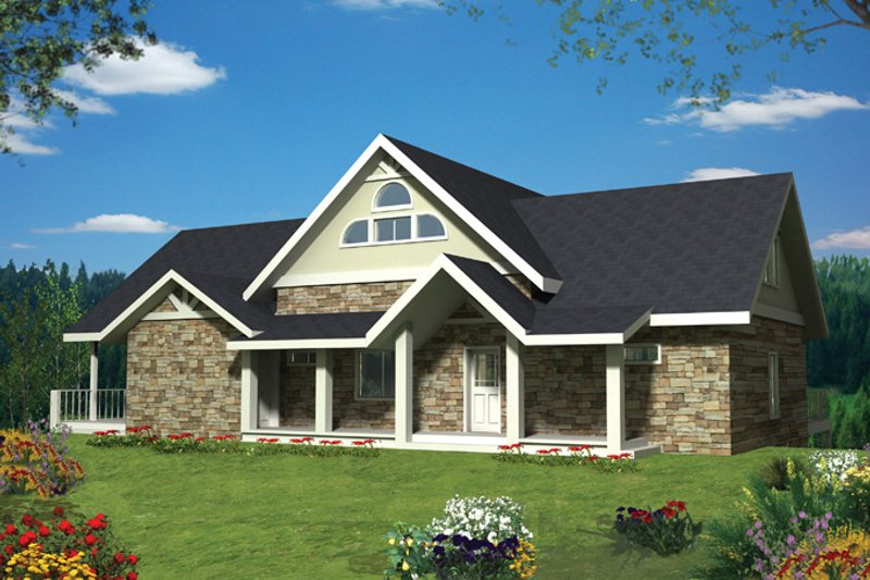 Architectural House Design - Ranch Exterior - Front Elevation Plan #117-856