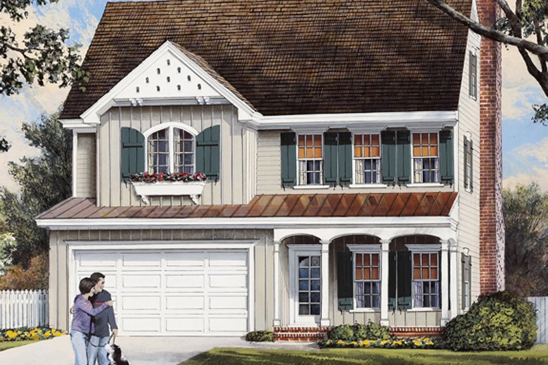 Traditional Exterior - Front Elevation Plan #137-362