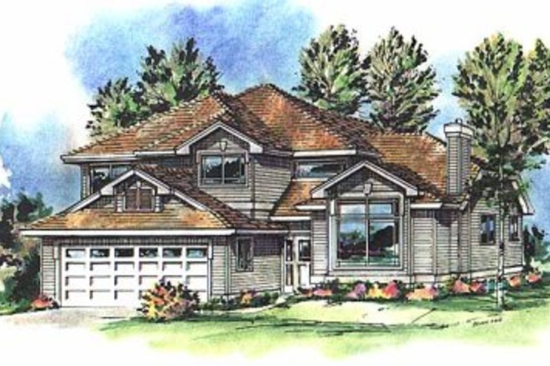 Home Plan - European Exterior - Front Elevation Plan #18-266