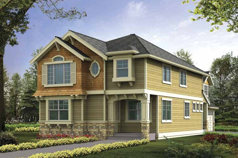 Craftsman Exterior - Front Elevation Plan #132-385