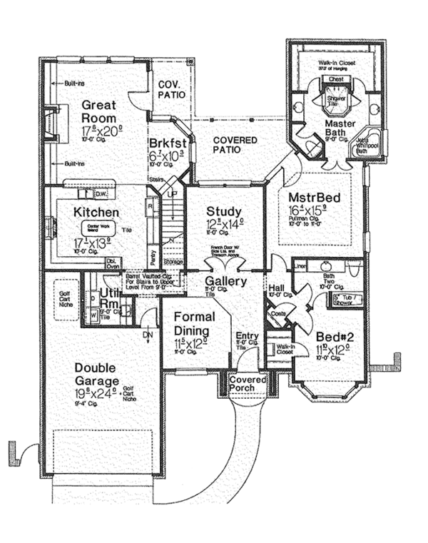 European Floor Plan - Main Floor Plan Plan #310-1255