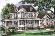 Colonial Style House Plan - 5 Beds 4 Baths 3196 Sq/Ft Plan #929-705 Exterior - Front Elevation