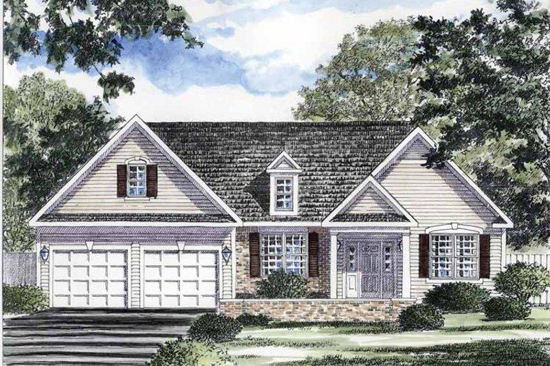 Ranch Exterior - Front Elevation Plan #316-258 - Houseplans.com