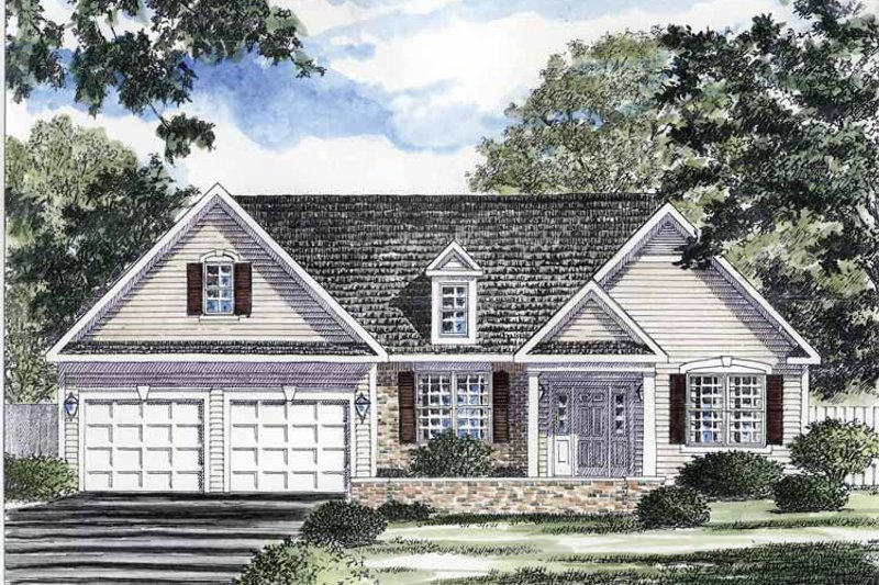 Dream House Plan - Ranch Exterior - Front Elevation Plan #316-258