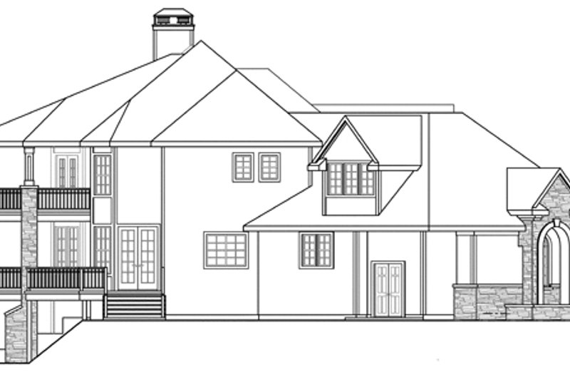 Exterior - Other Elevation Plan #124-884 - Houseplans.com