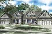 Craftsman Style House Plan - 4 Beds 2.5 Baths 5000 Sq/Ft Plan #17-2446 Exterior - Front Elevation