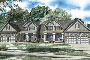 Craftsman Exterior - Front Elevation Plan #17-2446