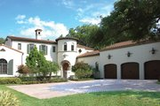 Mediterranean Style House Plan - 3 Beds 3 Baths 4795 Sq/Ft Plan #1058-15 Exterior - Front Elevation