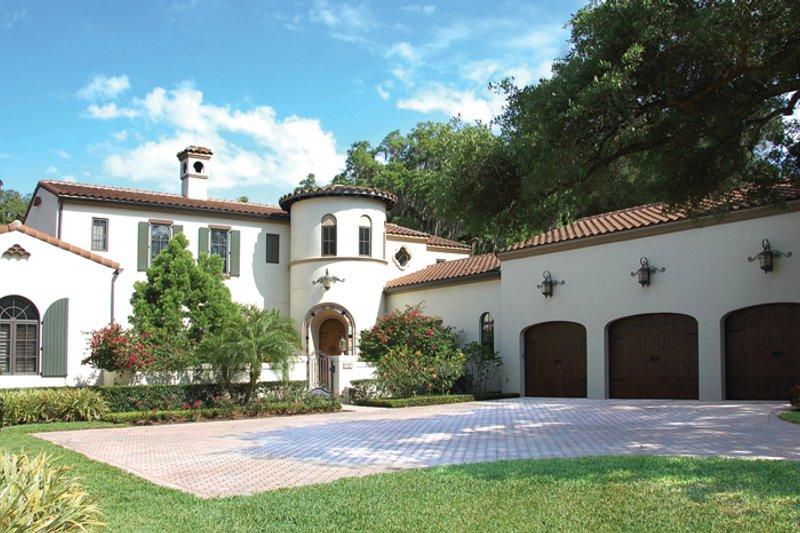 Architectural House Design - Mediterranean Exterior - Front Elevation Plan #1058-15