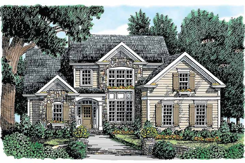 Country Exterior - Front Elevation Plan #927-271