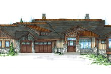 Architectural House Design - Craftsman Exterior - Front Elevation Plan #945-139