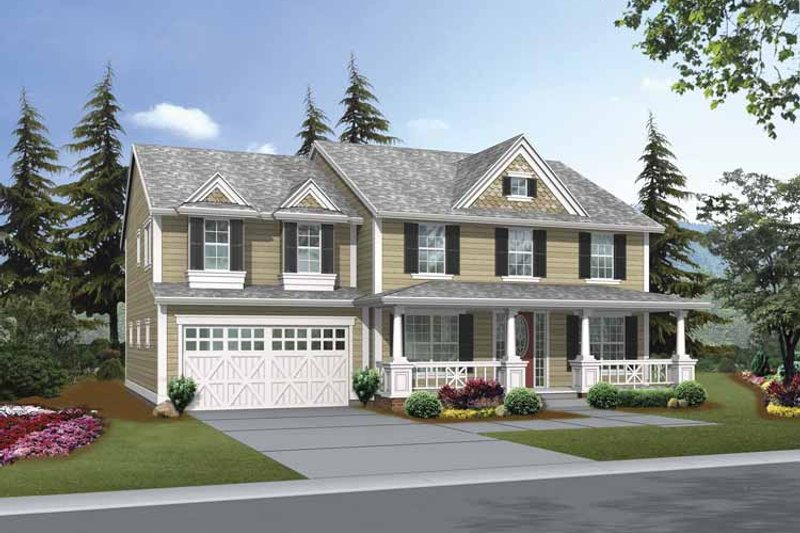 Dream House Plan - Craftsman Exterior - Front Elevation Plan #132-378
