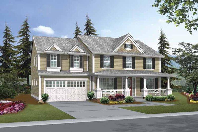 Craftsman Exterior - Front Elevation Plan #132-378