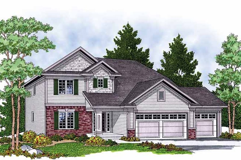 Traditional Exterior - Front Elevation Plan #70-1377 - Houseplans.com