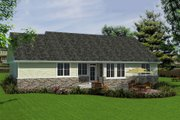 Craftsman Style House Plan - 4 Beds 2 Baths 1863 Sq/Ft Plan #18-4523 Exterior - Rear Elevation