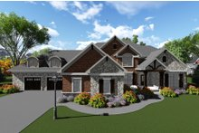 Dream House Plan - Traditional Exterior - Front Elevation Plan #70-1296