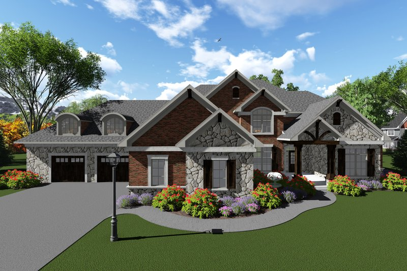 Home Plan - Traditional Exterior - Front Elevation Plan #70-1296