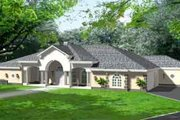 Mediterranean Style House Plan - 4 Beds 4.5 Baths 4727 Sq/Ft Plan #1-925 Exterior - Front Elevation
