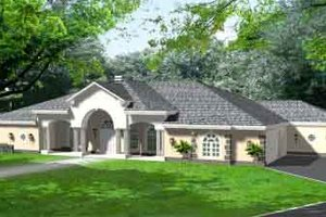 Mediterranean Exterior - Front Elevation Plan #1-925