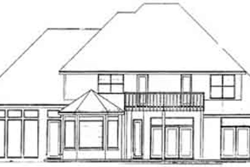 European Exterior - Rear Elevation Plan #52-151 - Houseplans.com
