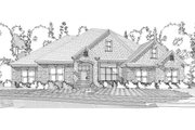 European Style House Plan - 4 Beds 3.5 Baths 2731 Sq/Ft Plan #63-302 Exterior - Front Elevation