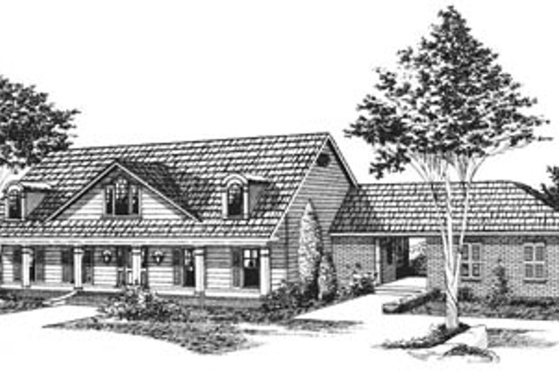 Southern Style House Plan - 3 Beds 2.5 Baths 3230 Sq/Ft Plan #15-133 Exterior - Front Elevation