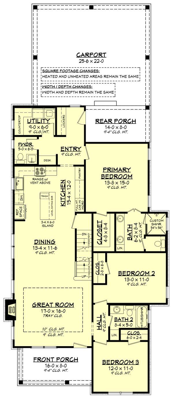 Farmhouse Floor Plan - Other Floor Plan #430-243