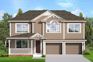 Architectural House Design - Country Exterior - Front Elevation Plan #1058-205