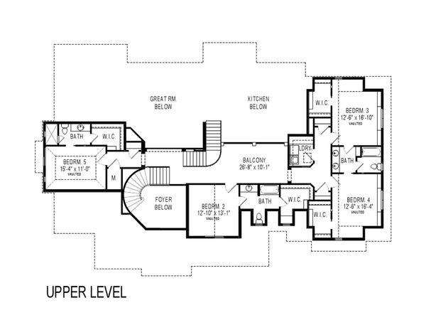 Craftsman Floor Plan - Upper Floor Plan Plan #920-31