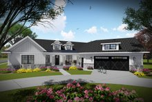 Ranch Exterior - Front Elevation Plan #70-1480
