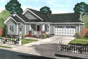 Traditional Exterior - Front Elevation Plan #513-2072