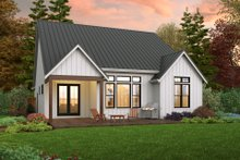 House Plan Design - Farmhouse Exterior - Rear Elevation Plan #48-1032