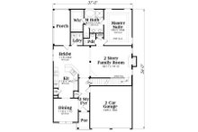 Traditional Floor Plan - Main Floor Plan Plan #419-150