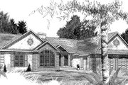 Traditional Style House Plan - 4 Beds 3 Baths 2140 Sq/Ft Plan #409-109 Exterior - Front Elevation