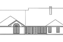 Southern Exterior - Rear Elevation Plan #42-395