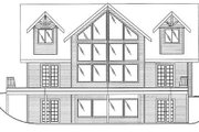 Country Style House Plan - 3 Beds 2.5 Baths 2281 Sq/Ft Plan #117-301 Exterior - Rear Elevation