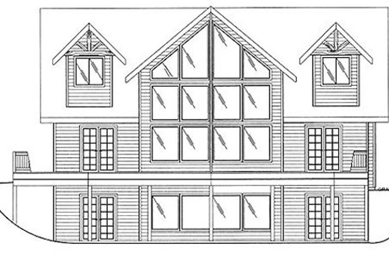 Country Exterior - Rear Elevation Plan #117-301 - Houseplans.com