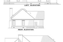 House Plan Design - Classical Exterior - Rear Elevation Plan #17-179