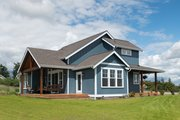 Contemporary Style House Plan - 3 Beds 2.5 Baths 2531 Sq/Ft Plan #1070-82 Exterior - Rear Elevation