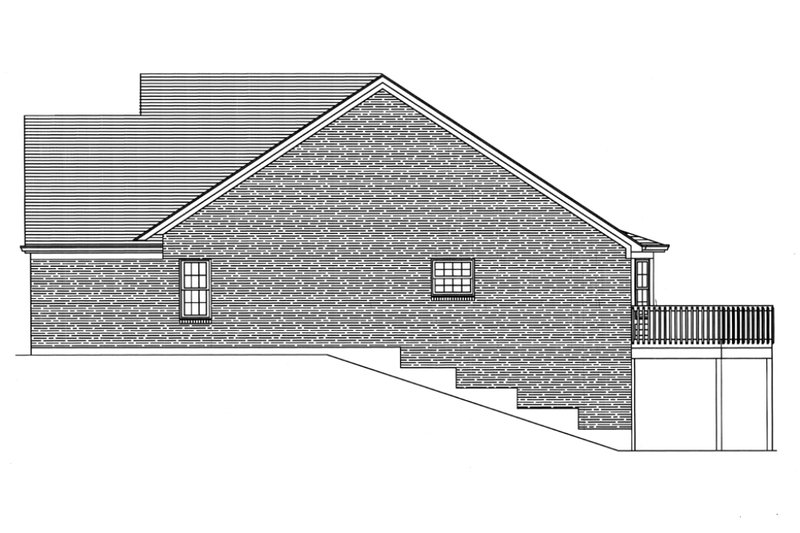 Traditional Exterior - Other Elevation Plan #46-372 - Houseplans.com