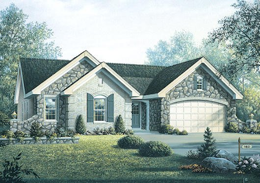 Traditional Exterior - Front Elevation Plan #57-367 - Houseplans.com