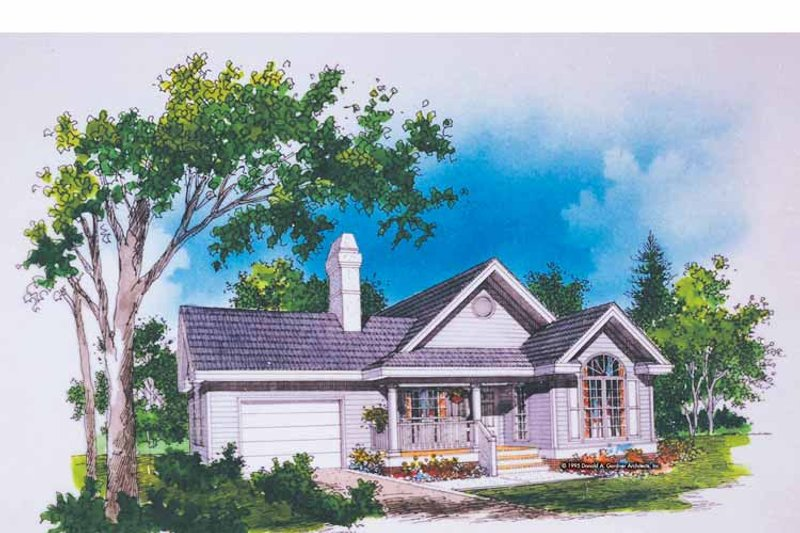 Ranch Exterior - Front Elevation Plan #929-230