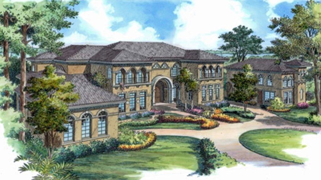 Mediterranean Style House Plan 6 Beds 6 Baths 12371 Sq