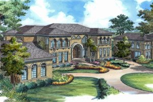 Dream House Plan - Mediterranean Exterior - Front Elevation Plan #417-817