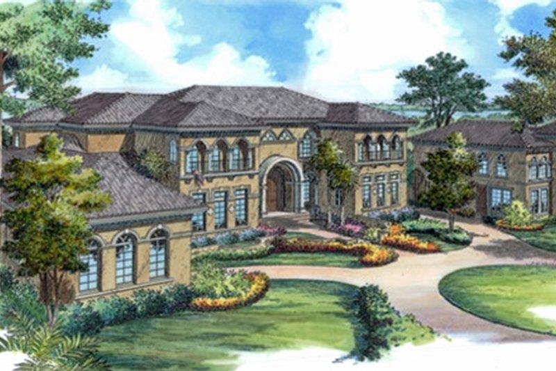 Architectural House Design - Mediterranean Exterior - Front Elevation Plan #417-817