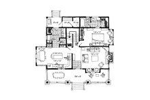 Cabin Floor Plan - Main Floor Plan Plan #942-33
