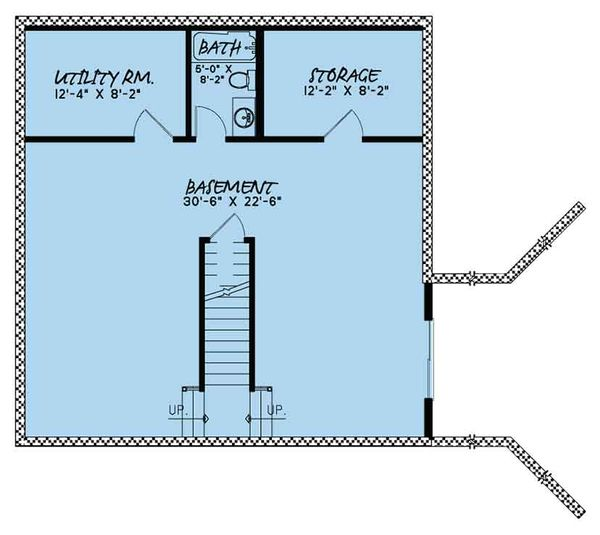Country Floor Plan - Lower Floor Plan Plan #17-3395