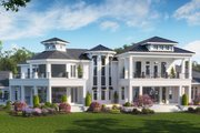 Contemporary Style House Plan - 4 Beds 5 Baths 7366 Sq/Ft Plan #27-573 Exterior - Rear Elevation
